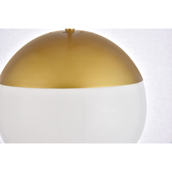 Eclipse Brass and Frosted White 10-Inch One-Light Pendant, image 4