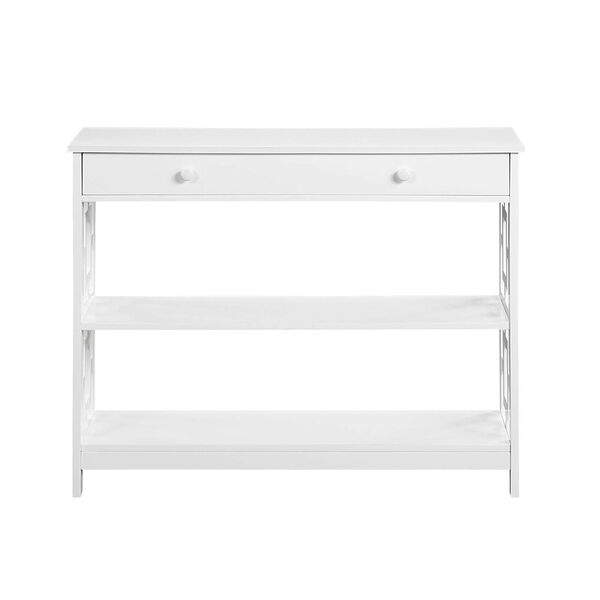 Town Square White Accent Console Table, image 4