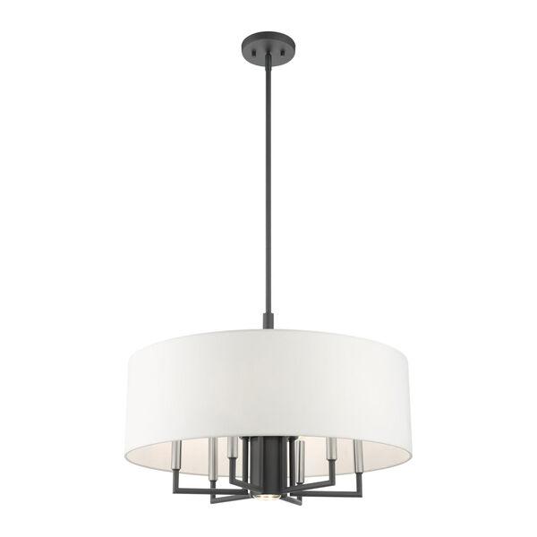 Meridian Scandinavian Gray Seven-Light Chandelier, image 5