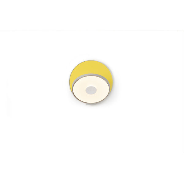 Gravy Silver Matte Yellow LED Plug-In Wall Sconce, image 2