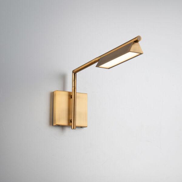 Eero Aged Brass LED Swing Arm Wall Light, image 3