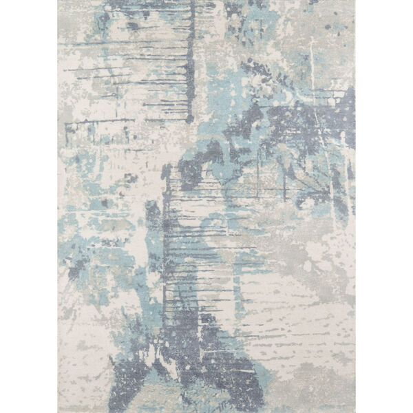 Illusions Abstract Blue Rectangular: 3 Ft. 6 In. x 5 Ft. 6 In. Rug, image 1