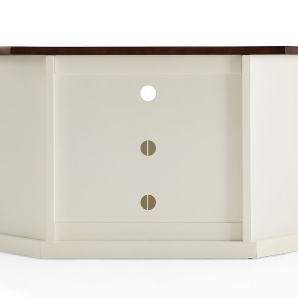 Shelby White Fiber Board and Birch Veneer TV Stand, image 4