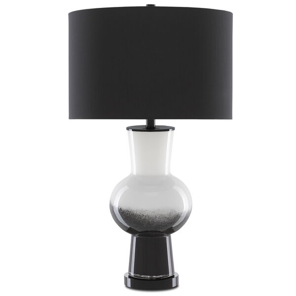Duende White and Glossy Black One-Light Table Lamp, image 3