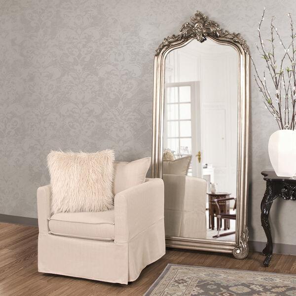 Tudor Silver Floor Mirror, image 1