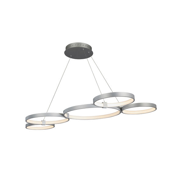 Capella Silver 31-Inch LED Adjustable Chandelier, image 6