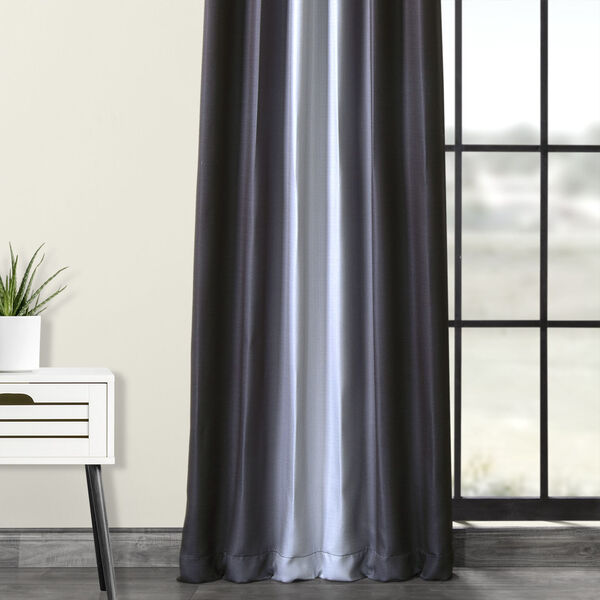 Grey 108 x 50-Inch Polyester Blackout Curtain Single Panel, image 5