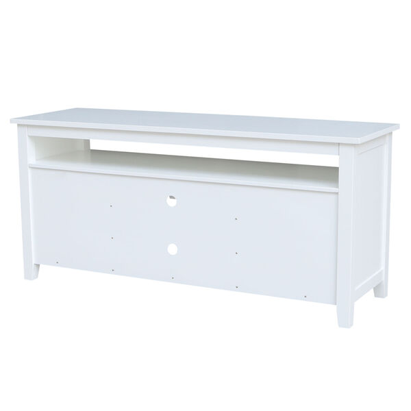 White 57-Inch TV Stand with Two Door, image 6