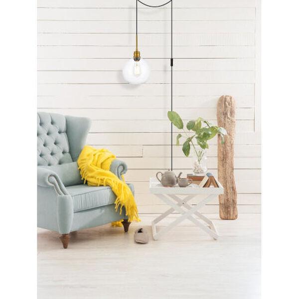 Emett Brass One-Light Plug-In Pendant, image 2