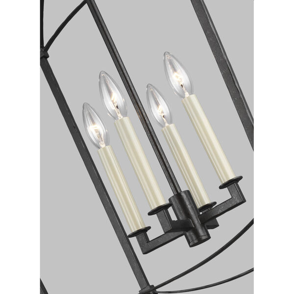 Thayer Smith Steel Four-Light Chandelier, image 3