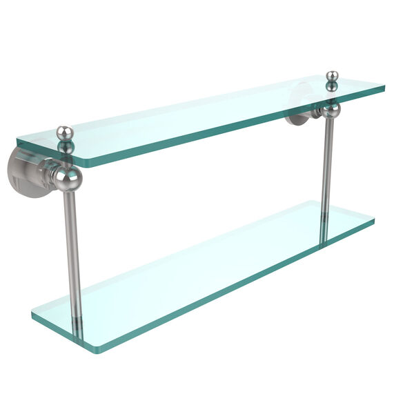 Polished Chrome 22-Inch Double Shelf , image 1