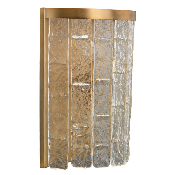 Waterfall Clear Glass with Antique Brass Two-Light Wall Sconce, image 3