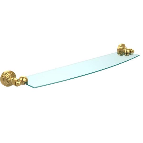 Waverly Place Polished Brass 24-Inch Single Shelf, image 1