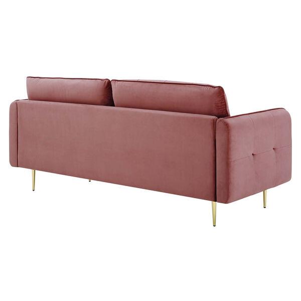 Whittier Dusty Rose Tufted Performance Velvet Sofa, image 3