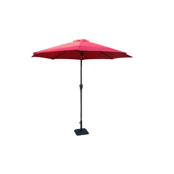 Red Nine-Feet Outdoor Umbrella, image 1