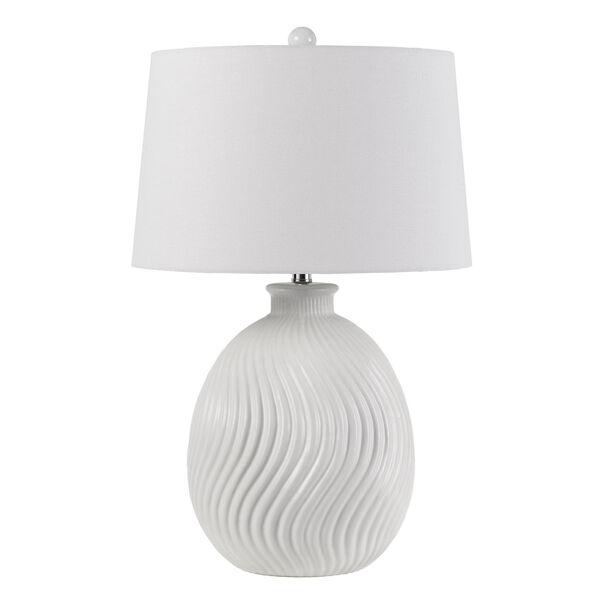 Olbia Milky White One-Light Table Lamp, image 1