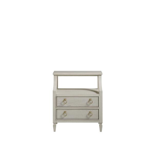 Gray One-Drawer Wood Nightstand, image 1