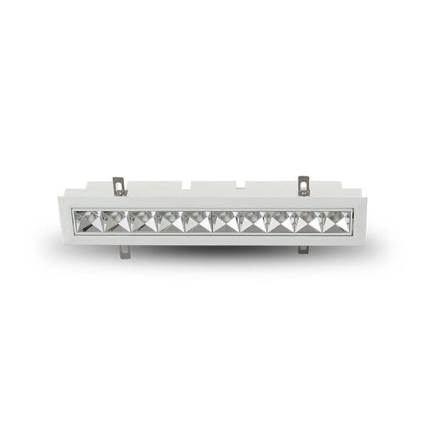 Rubik White 10-Light Adjustable LED Recessed Downlight, image 1