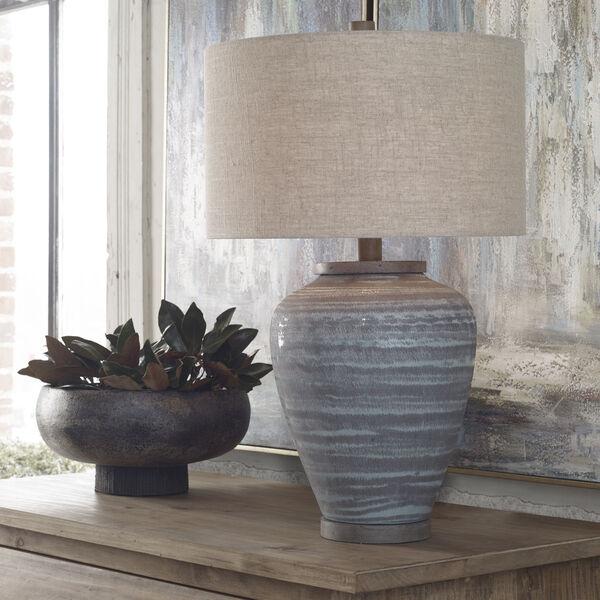 Pelia Aqua Blue Table Lamp, image 3