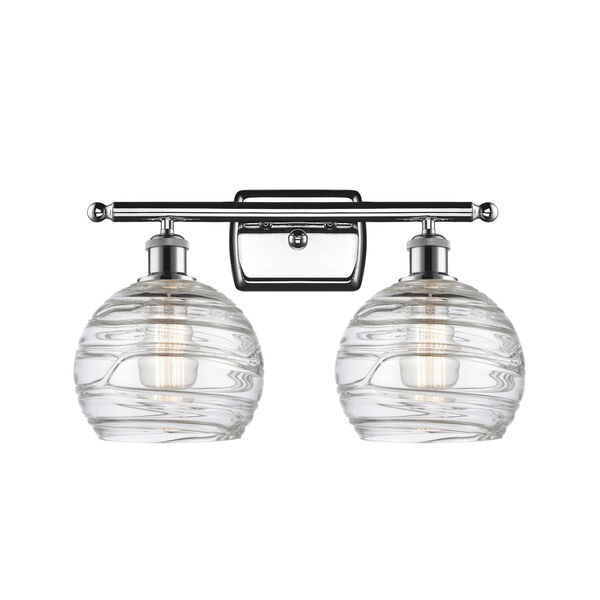 Ballston Polished Chrome 16-Inch Two-Light LED Bath Vanity with Clear Glass Shade, image 1