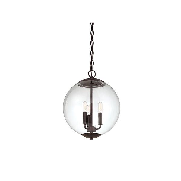 Whittier Oil Rubbed Bronze Three-Light Globe Pendant, image 5