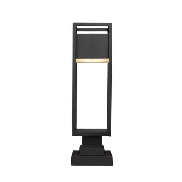 Barwick Black 22-Inch One-Light LED Outdoor Pier Mount, image 4