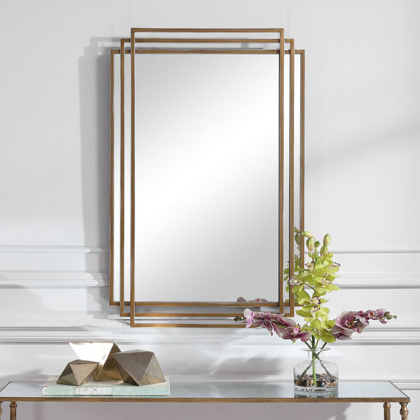 Amherst Brushed Gold Mirror, image 4