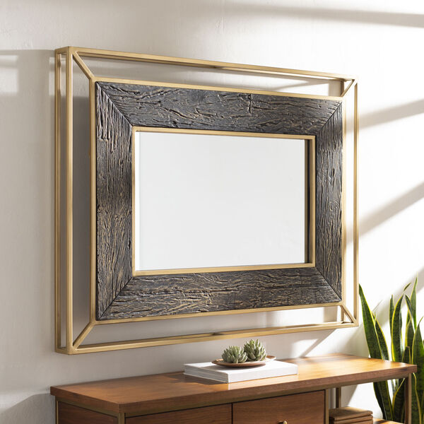 Allure Brown and Gold Wall Mirror, image 1