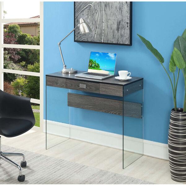 SoHo Weathered Gray Glass 36-Inch Desk, image 2