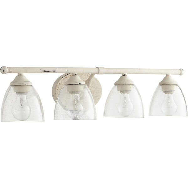 Brooks Persian White with Clear Seeded Glass Four-Light Bath Vanity, image 1