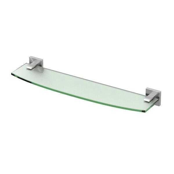 Elevate Satin Nickel Glass Shelf, image 1