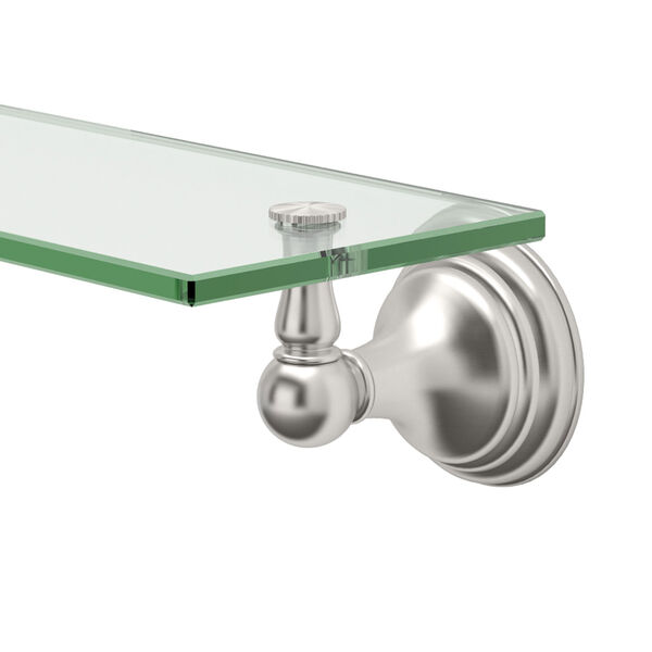 Charlotte Satin Nickel Glass Shelf, image 2