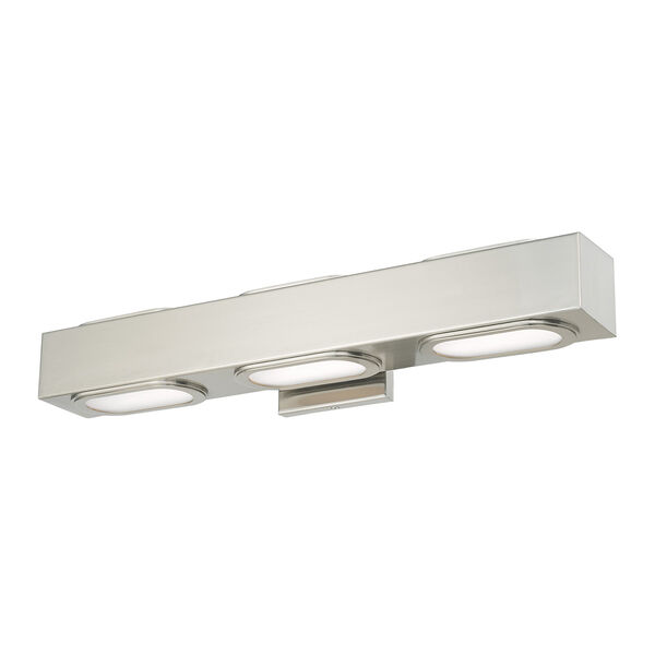 Kimball Brushed Nickel 23-Inch ADA Bath Vanity with Satin Glass Diffuser, image 4