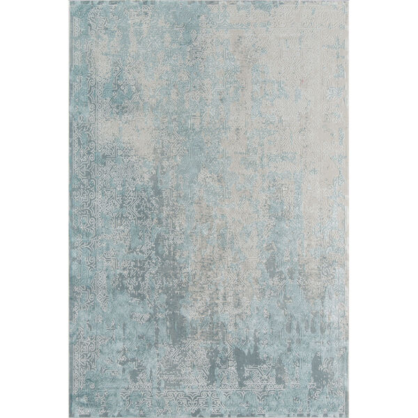 Genevieve Light Blue Rectangular: 7 Ft. 9 In. x 9 Ft. 10 In. Rug, image 1