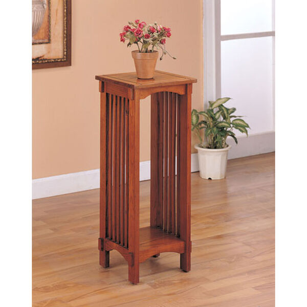 Mission Style Square Plant Stand, image 1