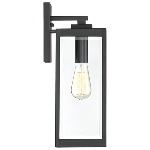 Pax Black 17-Inch One-Light Outdoor Wall Lantern with Beveled Glass, image 4