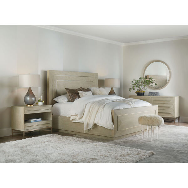 Cascade Taupe Two-Drawer Nightstand, image 4