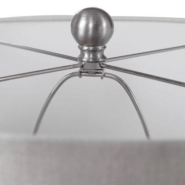Felipe Brushed Nickel and Gray Table Lamp, image 4