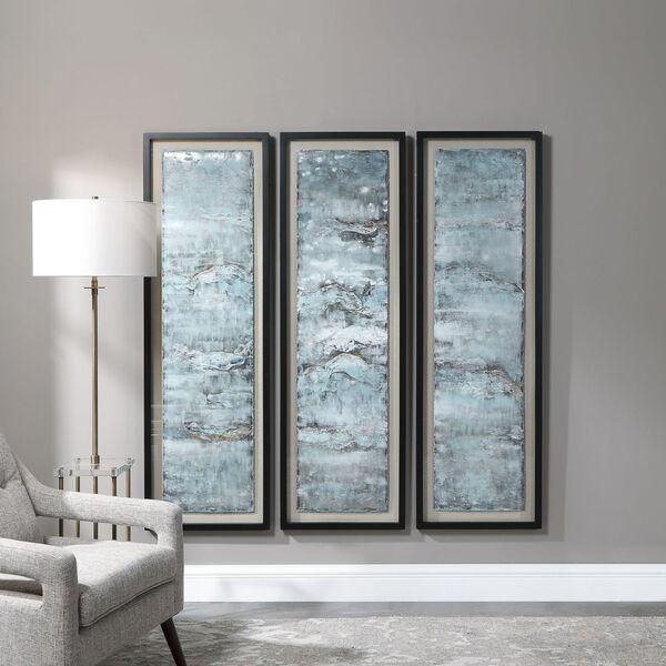 Ocean Swell Beige Painted Metal Art, Set of 3, image 3