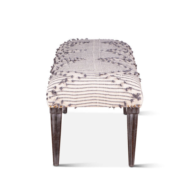 Algiers Off White and Black Accent Bench, image 4