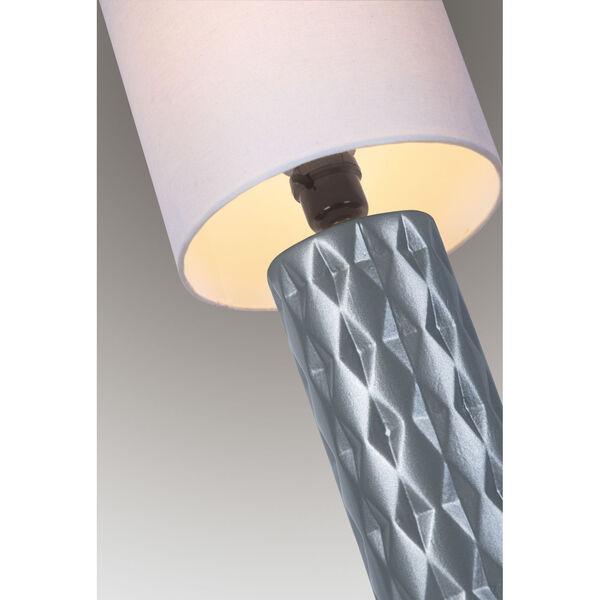 Delta Silver White Linen One-Light Table Lamp, image 2