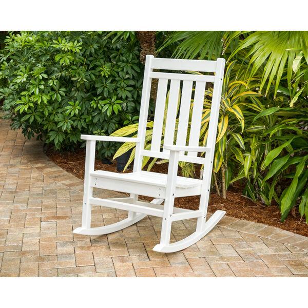 Estate White Rocking Chair, image 1