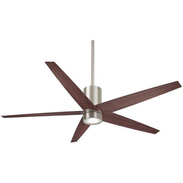 Symbio Brushed Nickel and Dark Walnut One-Light LED Ceiling Fan, image 1