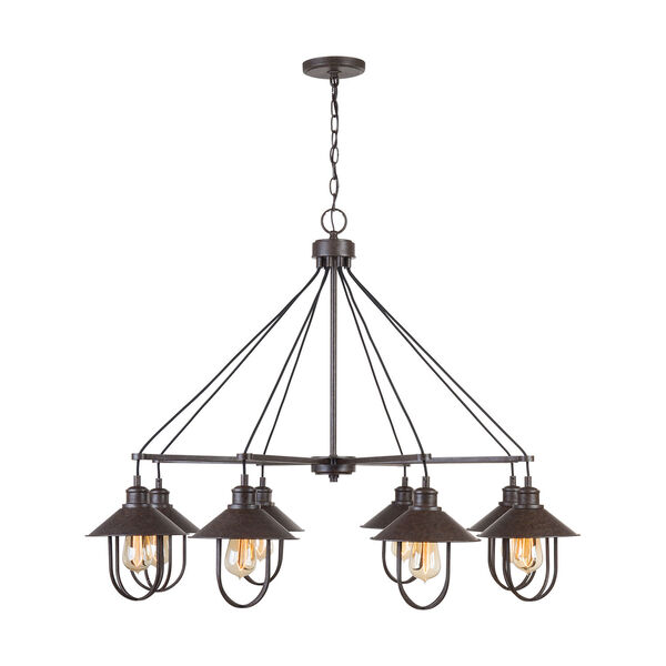 Pawley Mineral Brown Eight-Light Chandelier, image 1