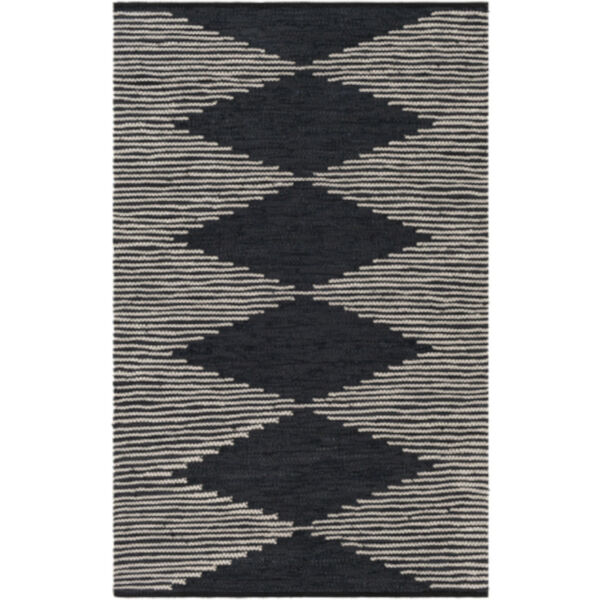 Lexington Black and Khaki Rectangular Rug, image 1