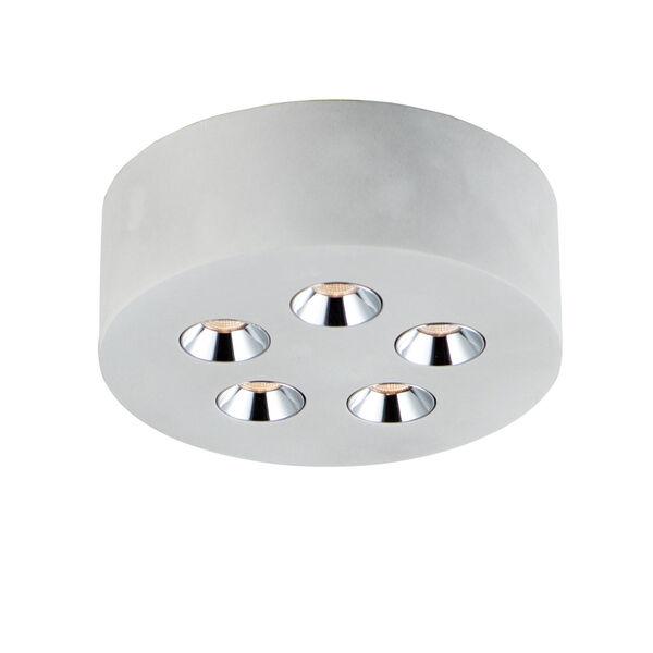 Peg Gray Five-Light LED Flush Mount, image 1