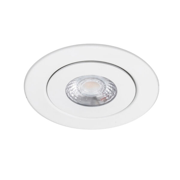 Lotos White Six-Inch LED Round Adjustable Recessed Light Kit, image 3