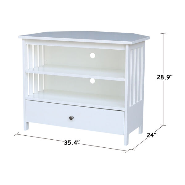 White 35-Inch TV Stand, image 6