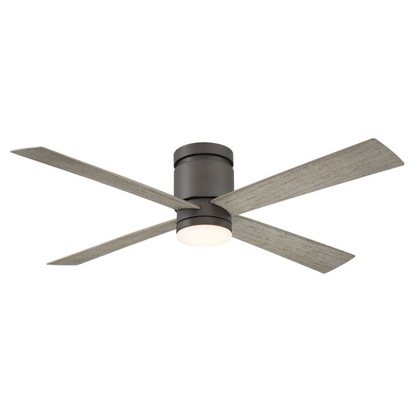 Kwartet Matte Greige 52-Inch LED Indoor Outdoor Ceiling Fan, image 1