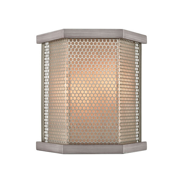 Crestler Weathered Zinc and Polished Nickel Two-Light Wall Sconce, image 1